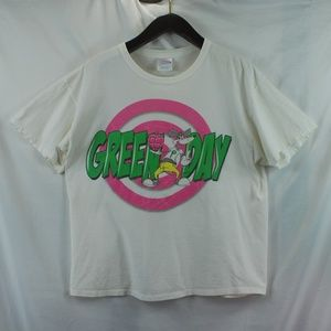 Green Day   White Graphic Band Tee 2010 size XL